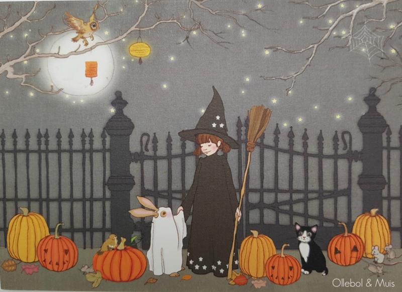 Belle & Boo ansichtkaart  Halloween