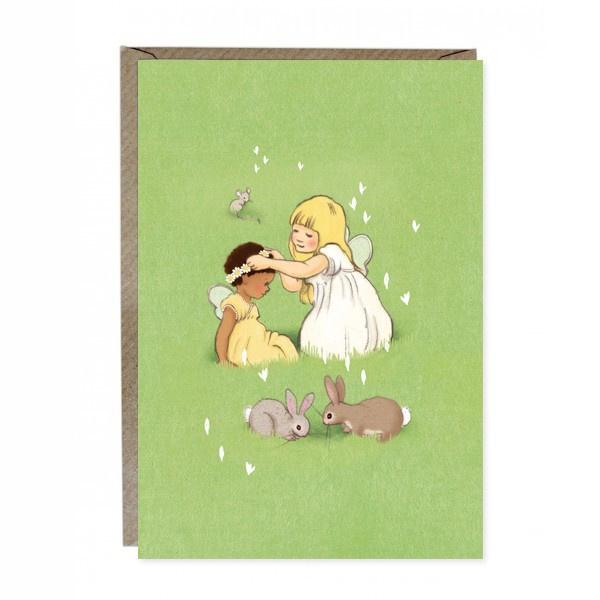 Wenskaart Belle & Boo Daisy Chain Friends