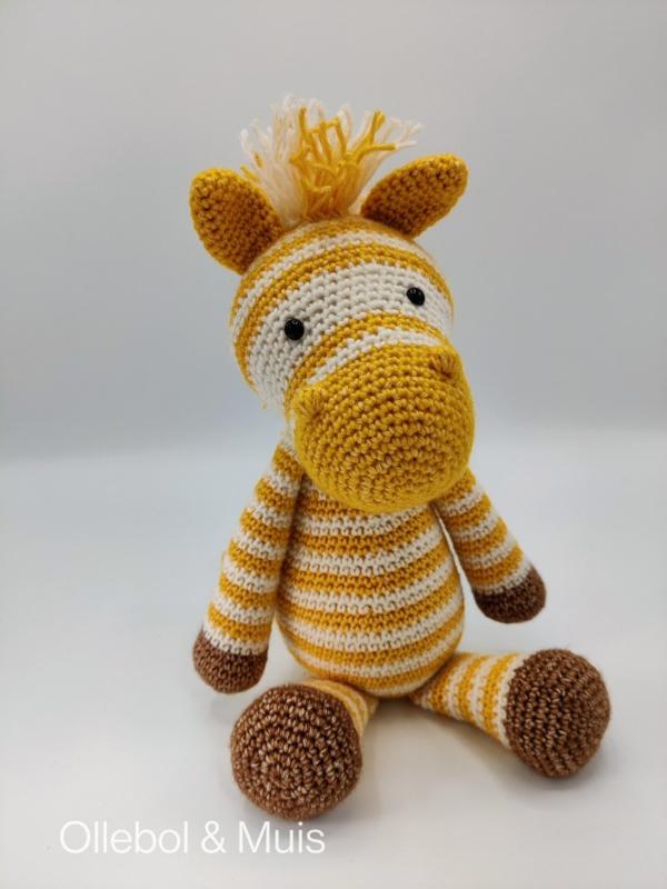 Crochet zebra mustard