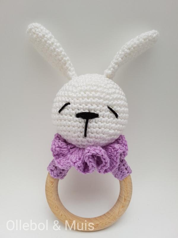 Rattle / teether rabbit