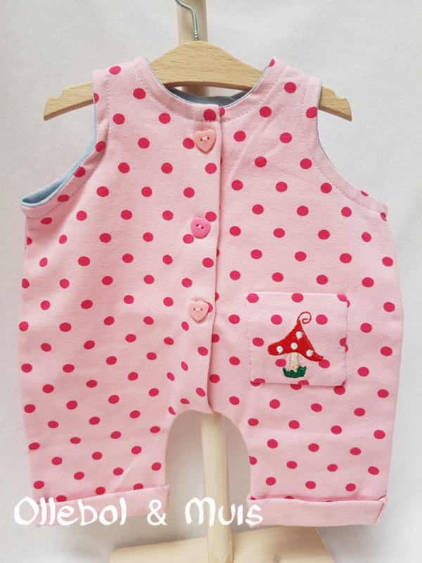 Pink Jumpsuit waldorf doll 15/16 inch