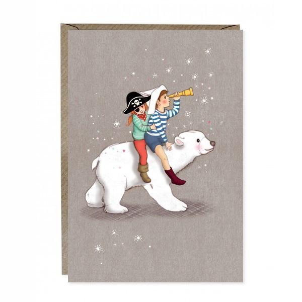 Wenskaart Belle & Boo Polar Adventure