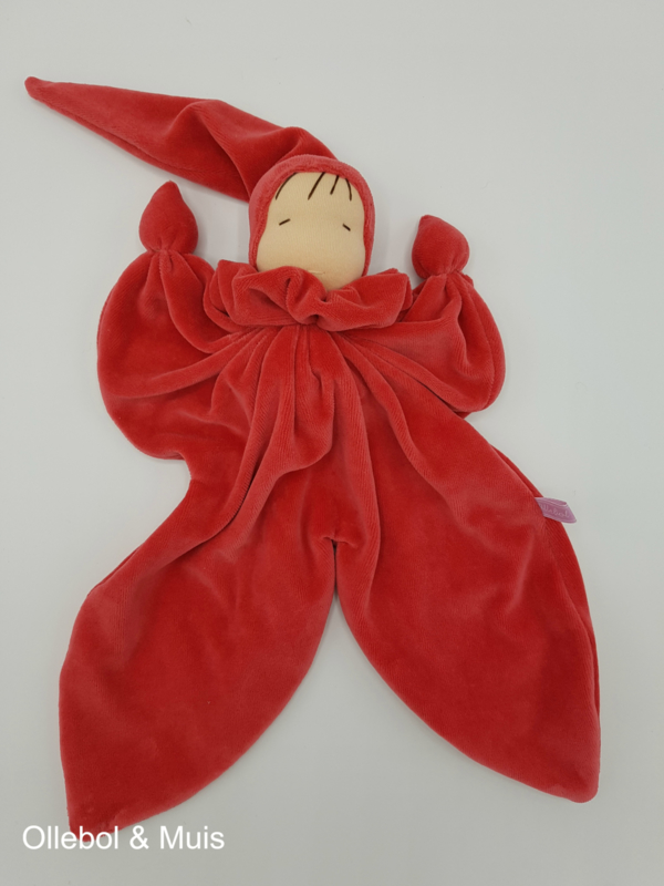 Vlinderpopje rood