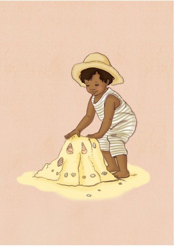 Belle & Boo ansichtkaart  My Sandcastles