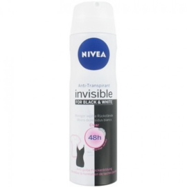 6 x Nivea -black&white for woman 150ml