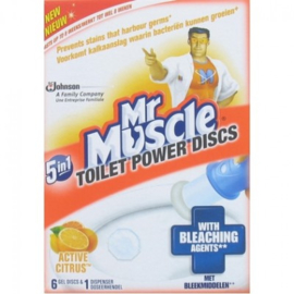 Mr Muscle Fresh Discs 5 in 1 – Houder + Navulling Active Citrus