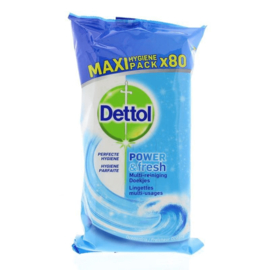 Dettol Power en Fresh 80 doekjes