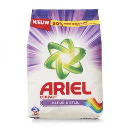 Ariel Kleur & Stijl Waspoeder 1.125 KG, 15 Wasbeurten