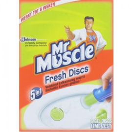 Mr Muscle Fresh Discs 5 in 1 – Houder + Navulling Lime