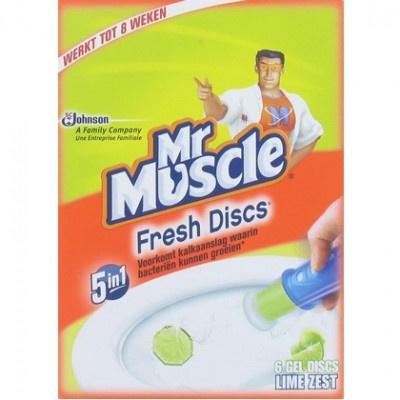 Mr Muscle Fresh Discs 5 in 1 – Houder + Navulling Lime