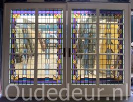 nr. e311 heel erg brede set glas in lood ensuite deuren