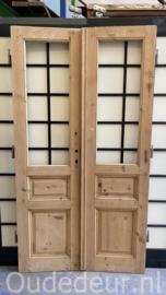 nr. set602 set oude geloogde glasdeuren