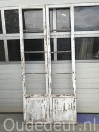 nr. set802 setje oude glasdeuren , glasloos