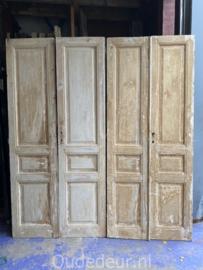 nr. set627 twee sets antieke oude deuren