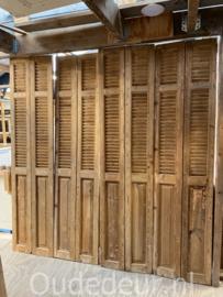 nr. L58 13x oude louvre deuren met paneel