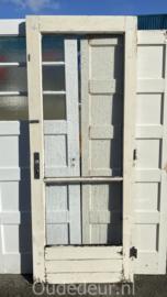 nr. a74 buitendeur met ruitverdeling en enkel glas
