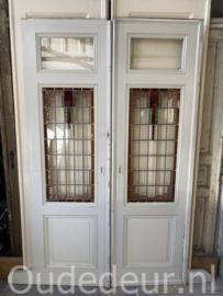 nr. e301 set glas in lood schuifdeuren (twee gelijke sets)