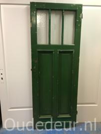 nr. 13h antieke paneeldeur drie ruiten