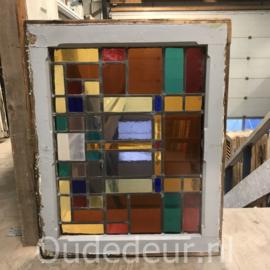 nr. GL427 oude glas in lood raam
