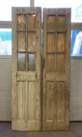 nr. set416 antieke glas deuren 6 ruitjes
