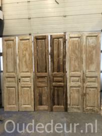 nr. set674 serie van 5 gelijke antieke sets deuren