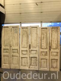 nr. set710 drie sets oude deuren whitewash