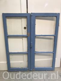 nr. r209 set blauwe ramen