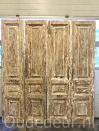 nr. set698 3 setjes oude deuren
