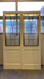 nr. E383a ensuite glas in lood deuren