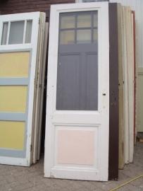 nr. 228 oude deur met ruit (veel beschikbaar)(verschillende soorten glas)
