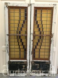 nr. e111 set glas in lood deuren