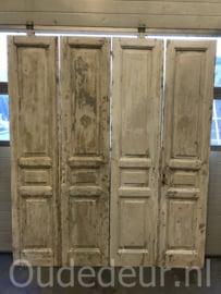 nr. set695 twee gelijke sets antieke deuren