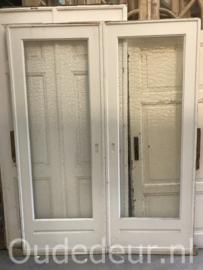nr. e223 set ensuite deuren met glas
