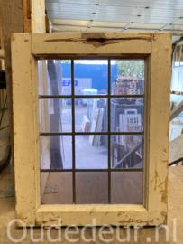 nr. g356 blanco glas in lood raam