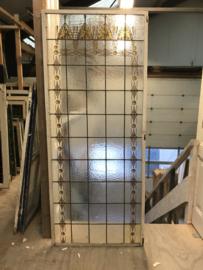 nr. GL442a Hoog glas in lood raam