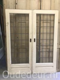 nr. e259 set glas in lood deuren