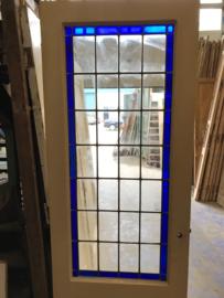 nr. gl248 antieke deur met glas in lood