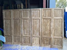 nr. set634 lage antiek sets geloogde deuren