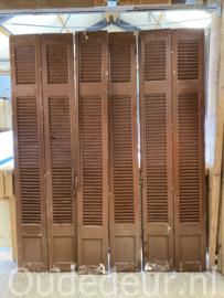nr. L421 6 bruine oude louvre luiken