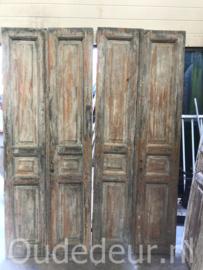 nr. set974  serie van 5 gelijke sets antieke deuren