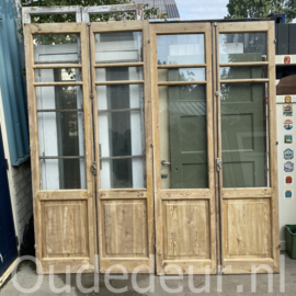 nr. set557 setje antieke geloogde glasdeuren