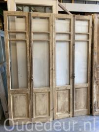 nr. set564 2 setjes geloogde oude glasdeuren