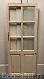 nr. 2373 kleine antieke glasdeur met 6 ruitjes