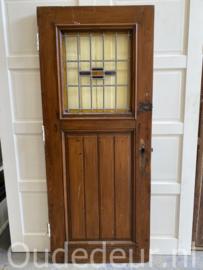 nr. GL475 oude deur met glas in lood