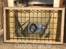 nr. GL419 gebrandschilderde glas in lood ruit