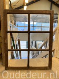 nr. r291 oude raam met zes vakken