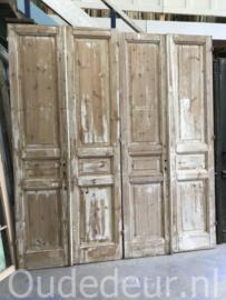 nr. set806 nog een set antieke deuren half geloogd