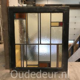 nr. GL433 oude glas in lood raam
