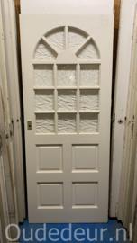 nr. 2397 hardhouten deur met ruitjes
