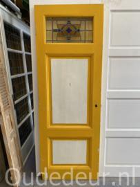 nr.  GL481 antieke deur met glas in lood